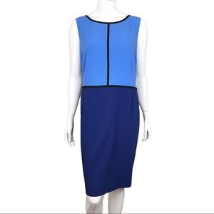 Ricki's Blue Colour Block Sleeveless Career Dress